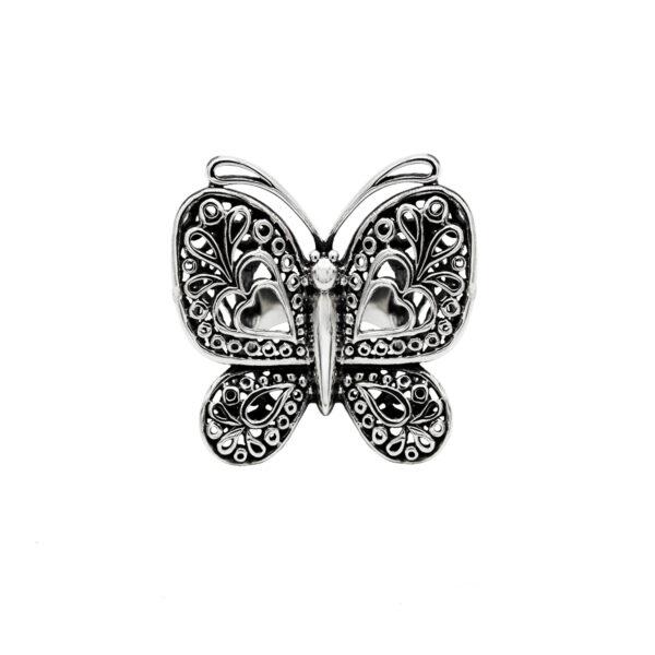 anillo mariposa plata de ley 925