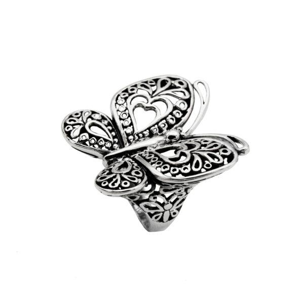 anillo mariposa en plata de ley 925