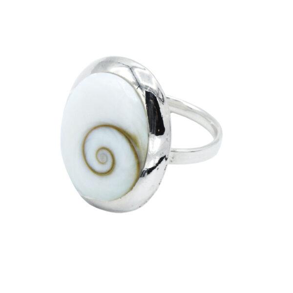 Anillo ajustable ojo de shiva arvales plata de ley 925