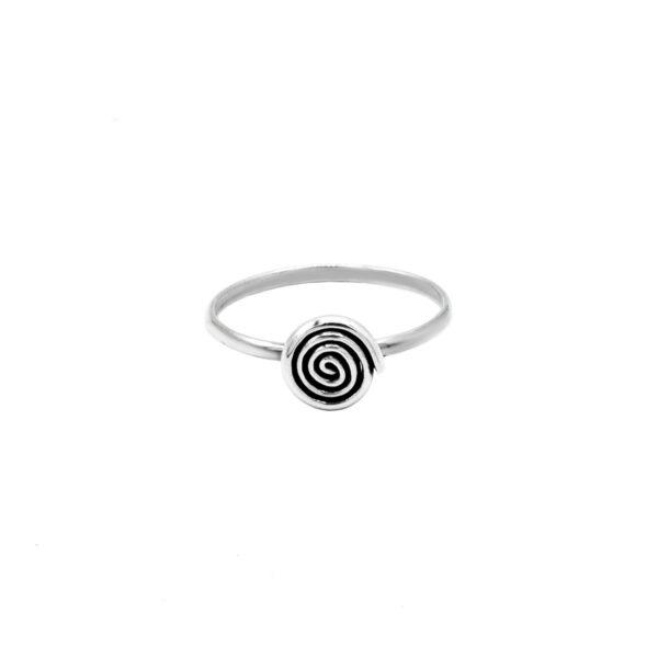 Anillo espiral en plata de ley 925