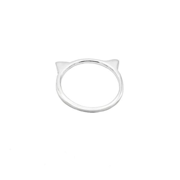 Anillo gato plata de ley 925