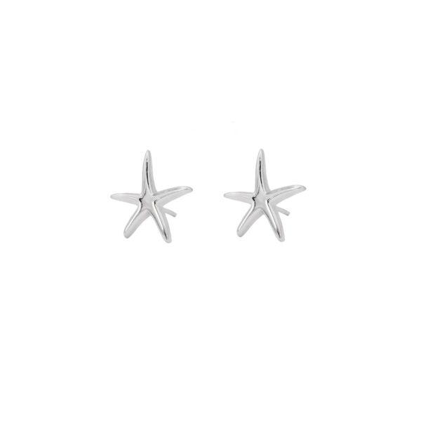 Pendiente estrella de mar en plata de ley 925