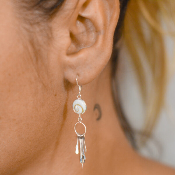 Pendiente lluvia Ojo de Shiva | Pendientes plata mujer | Plata de Ley 925