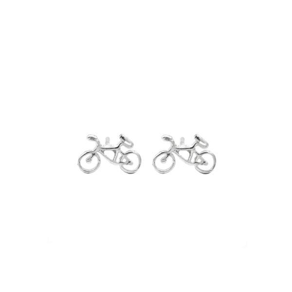 pendiente pequeño bicicleta en plata de ley 925