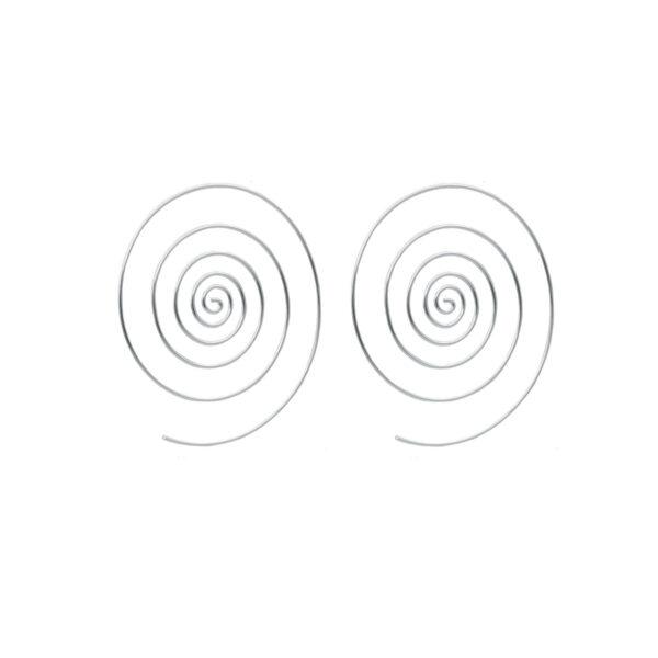 pendiente espiral en plata de ley 925
