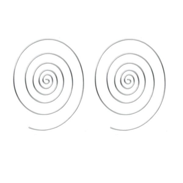aro Espiral | Pendientes plata mujer | Plata de Ley 925