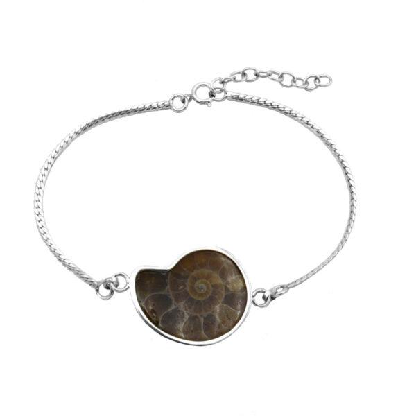 pulsera ammonite Plata de Ley 925