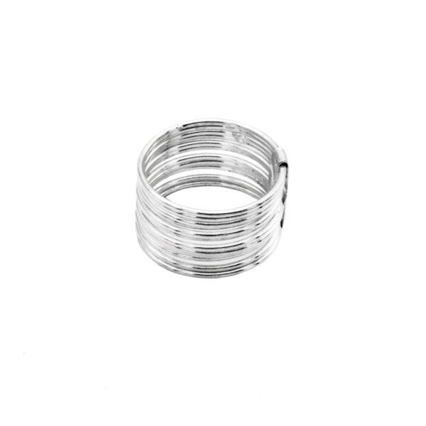 anillo 12 aros en plata de ley 925