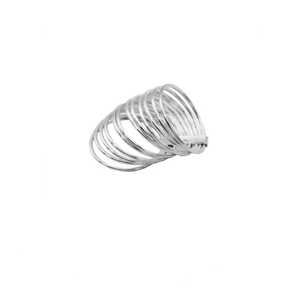 anillo 12 aros en playta de ley