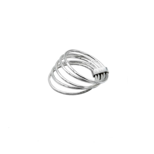anillo cinco aros en plata de ley 925