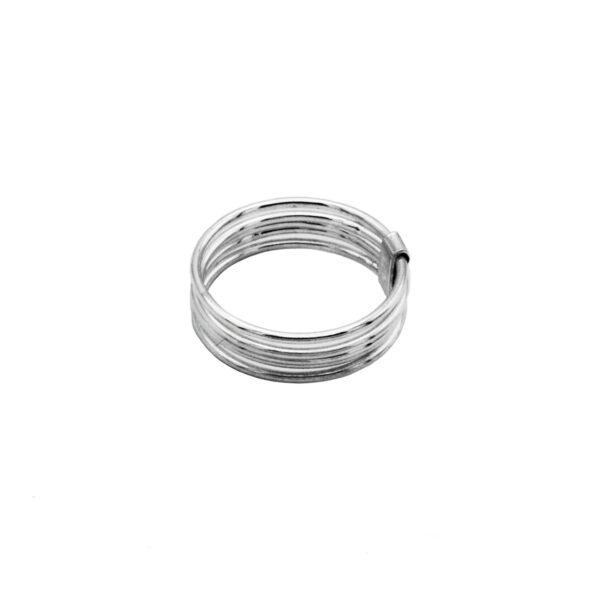 anillo 5 aros en plata de ley 925