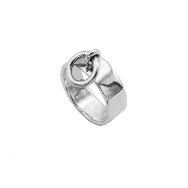 anillo evilla en plata de ley 925