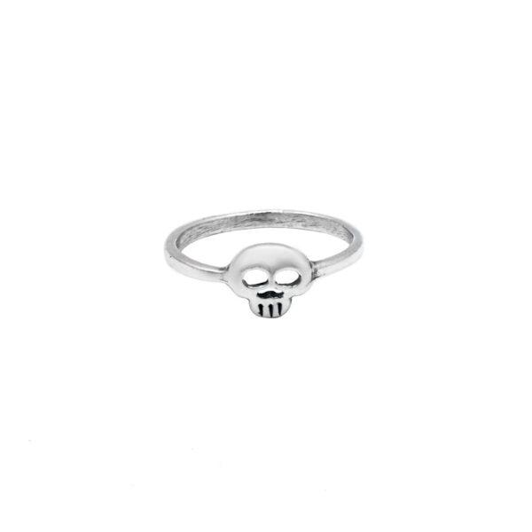 anillo calavera en plata de ley 925