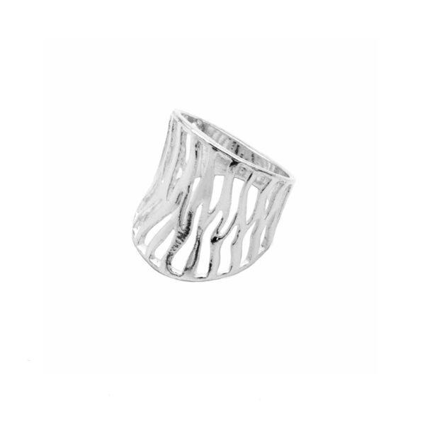 anillo cebra en plata de ley 925