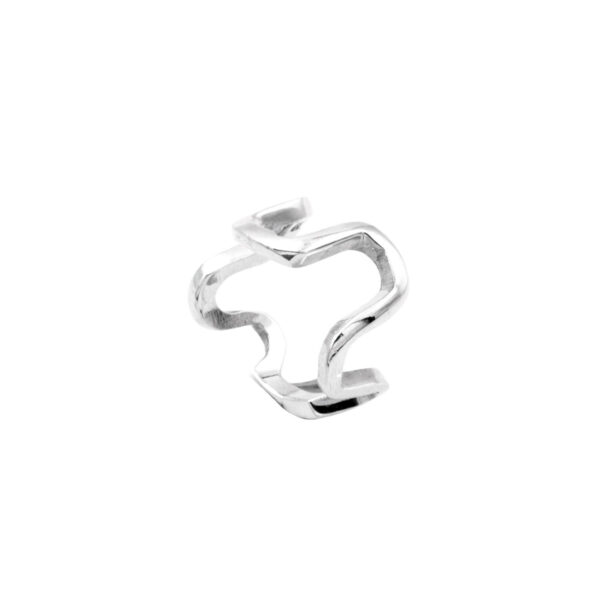 anillo curvo en plata de ley 925