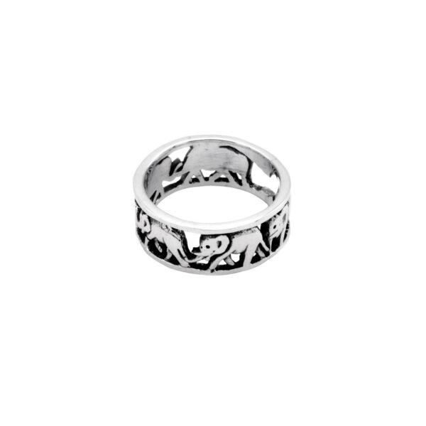 anillo elefante en plata de ley 925