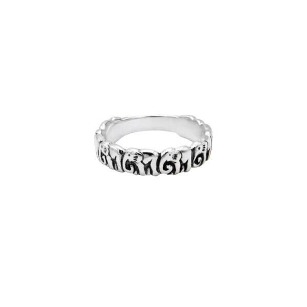 anillo plata elefante