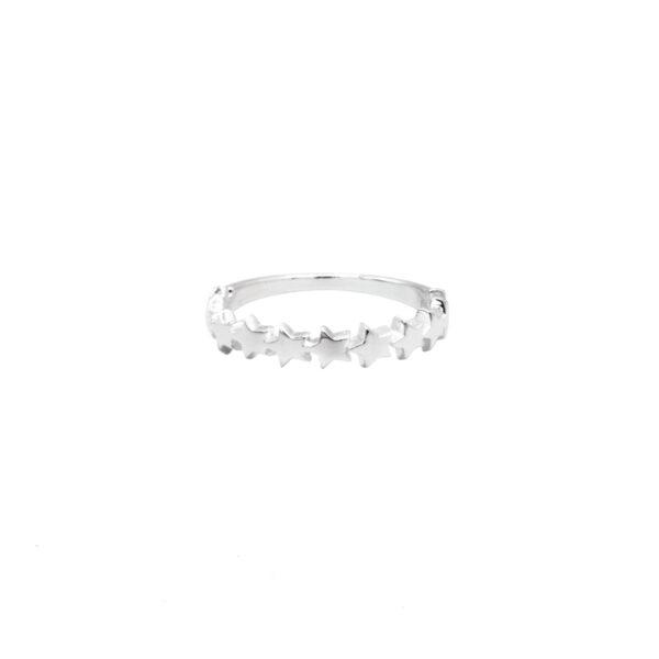 anillo estrella en plata de ley 925