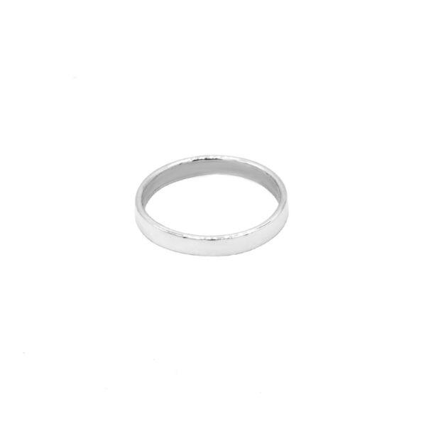 anillo alianza en plata de ley 925