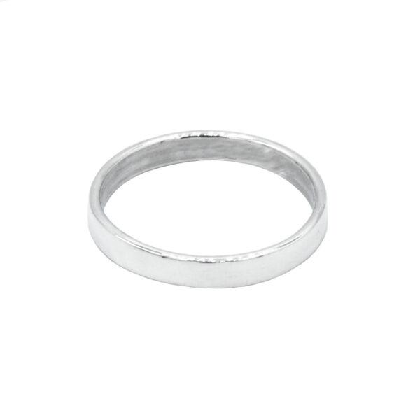 anillo fino alianza plata de ley 925