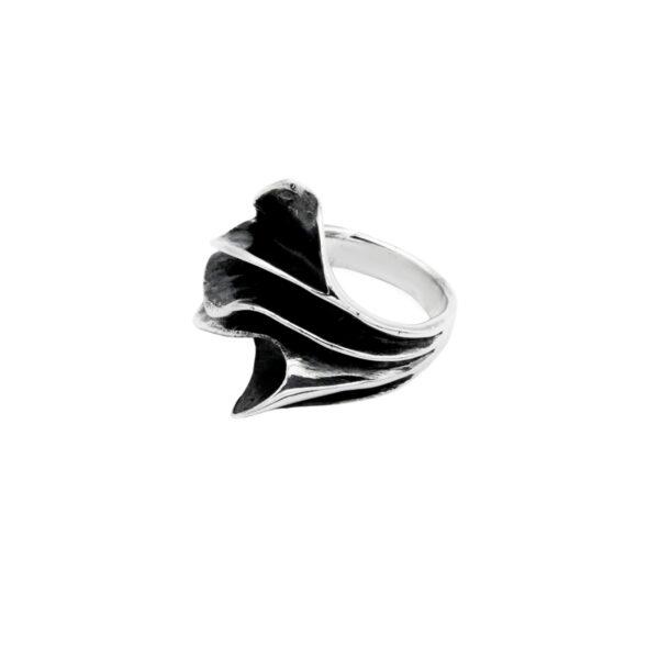anillo ikor en plata de ley