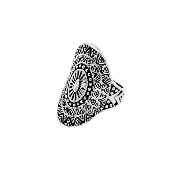 anillo mandala en plata de ley 925