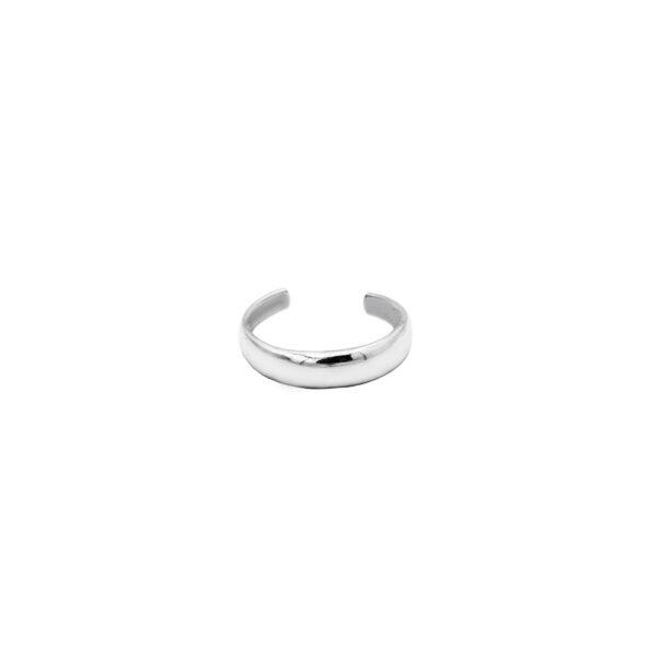 anillo midi alianza en plata de ley 925