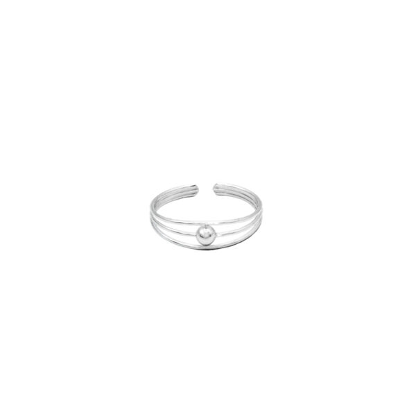 anillo midi bolita plata de ley 925