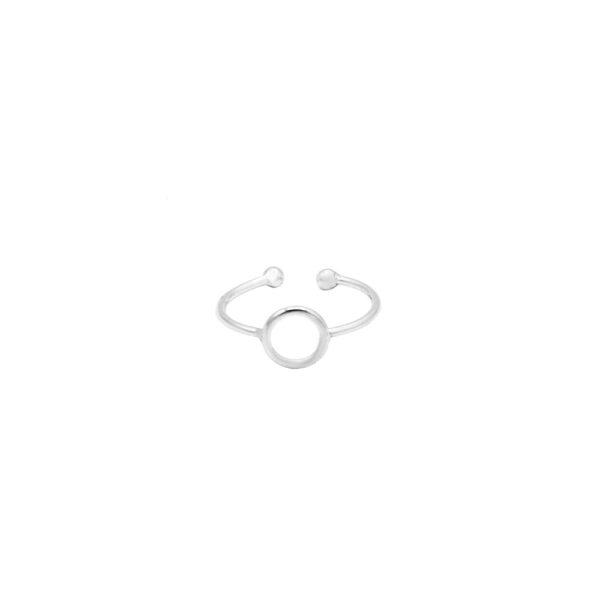 anillo midi circulo plata de ley 925