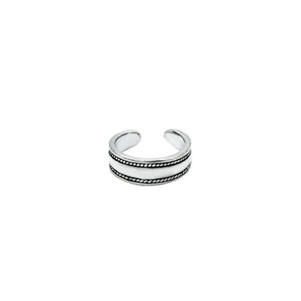 anillo midi labrado plata de ley 925