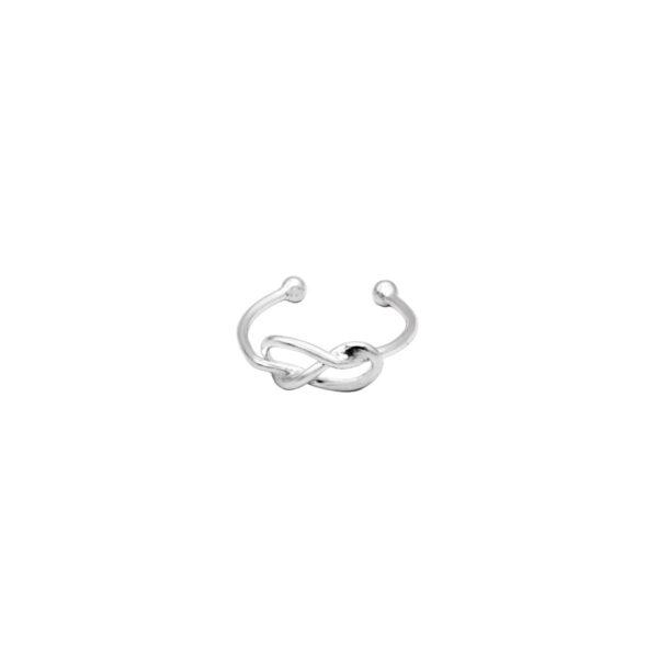 anillo midi nudo plata de ley 925