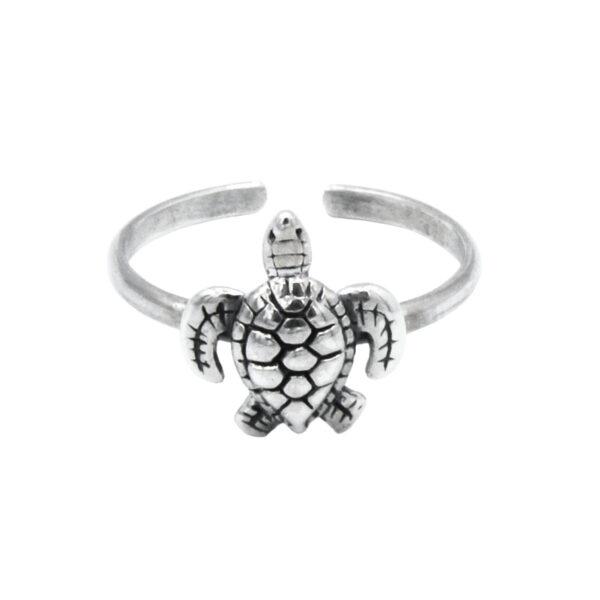 anillo midi tortuga plata de ley 925