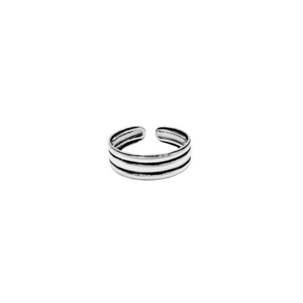 anillo midi tres aros plata de ley 925