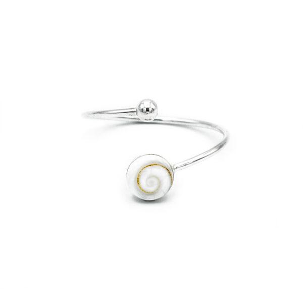 anillo ojo de shiva y bola | Anillo plata mujer | Plata de Ley 925