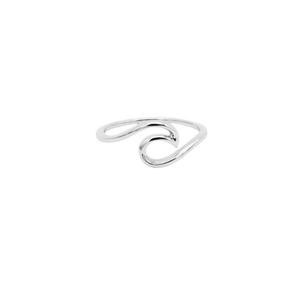 anillo ola en plata de ley 925