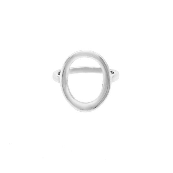 anillo ovalo en plata de ley 925