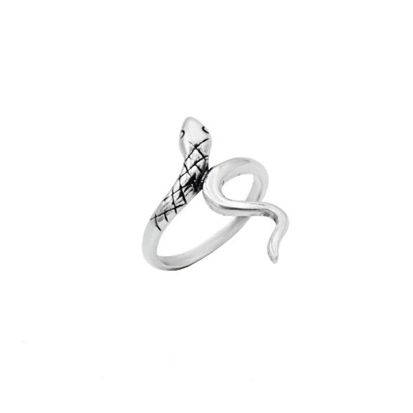 anillo serpiente en plata de ley 925