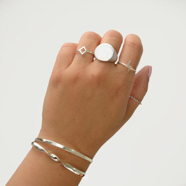 anillo sello redondo