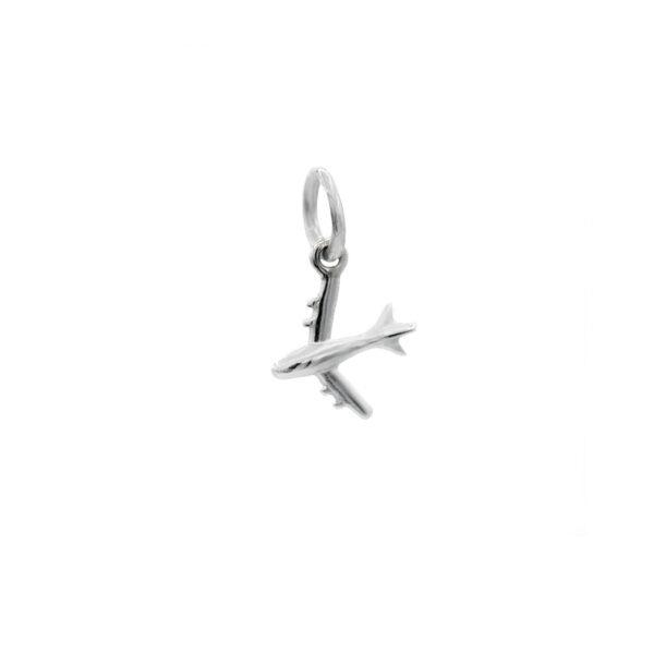 colgante avion en plata de ley 925