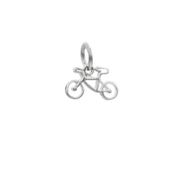 colgante bici en plata de ley 925