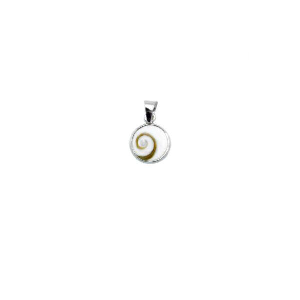 colgante ojo de shiva en plata de ley 925