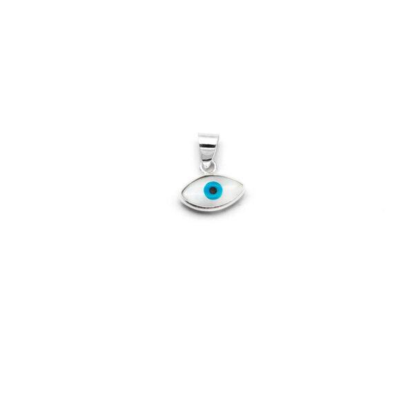 colgante ojo turco en plata de ley 925