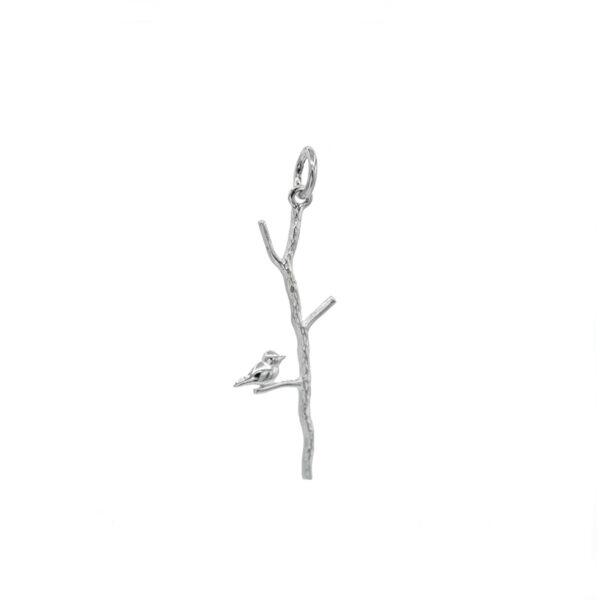 colgante rama en plata de ley 925