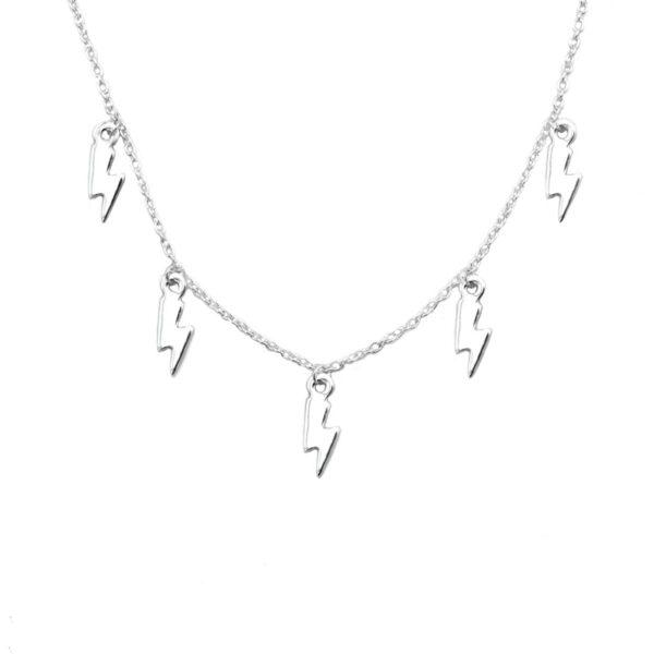 collar rayo en plata de ley 925