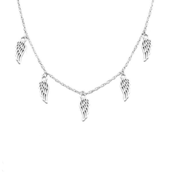 collar alas en plata de ley 925