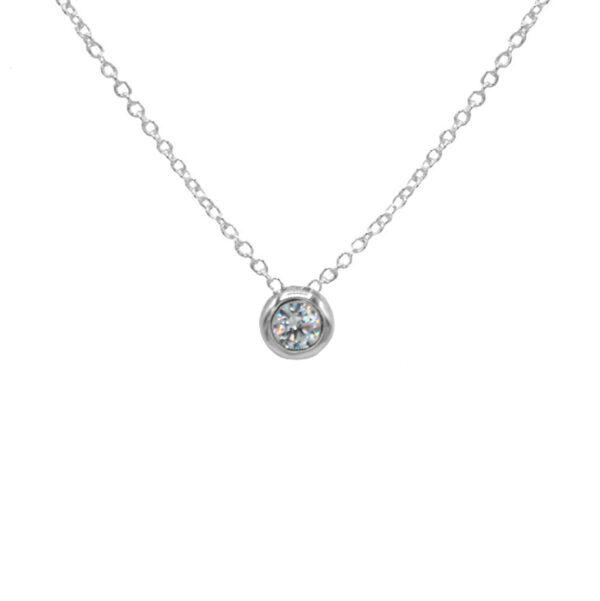 collar circonita plata de ley 925