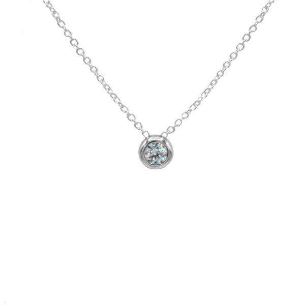 collar circonita en plata de ley 925