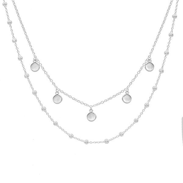 collar doble chapas plata de ley 925
