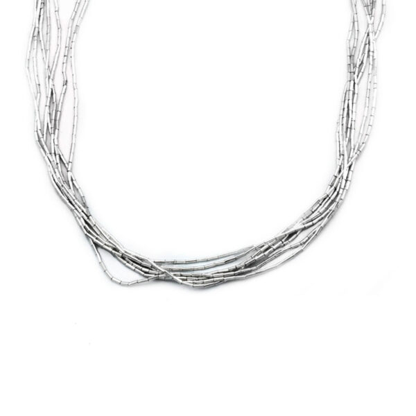 collar hilos en plata de ley 925