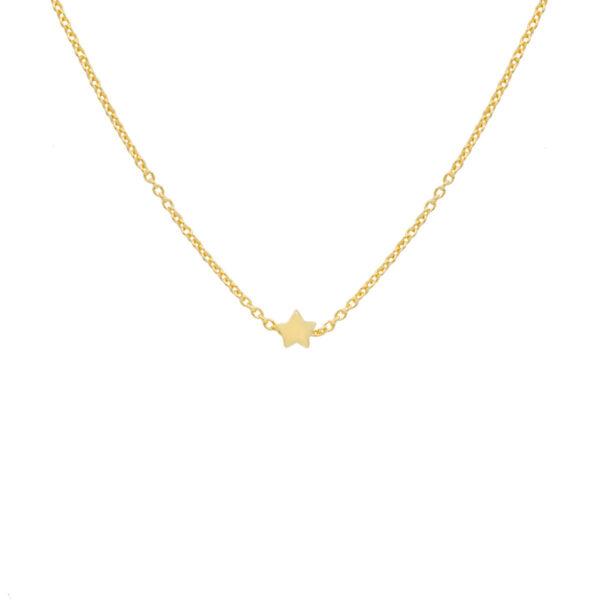 Collar estrella en oro